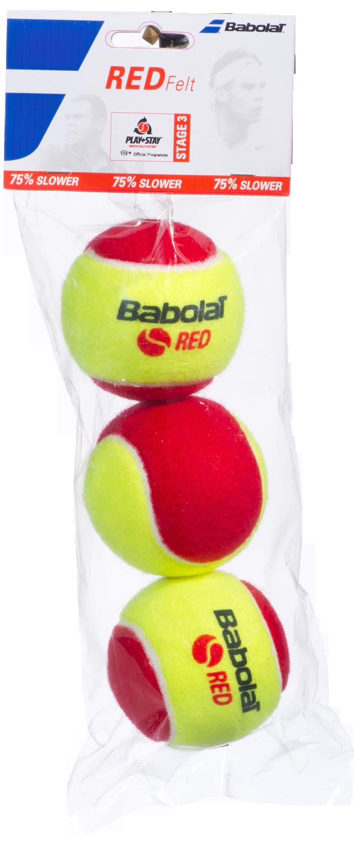 Red Felt (3 ballen)